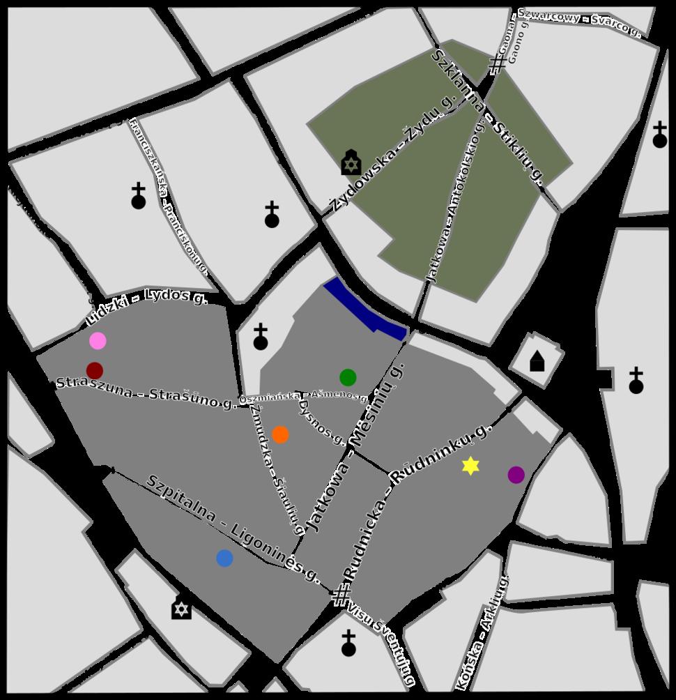 Map of Vilna Ghetto