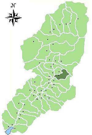 Cimbergo - Image: Map of comune of Cimbergo in Val Camonica (LG)