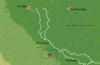 Battle of Walaja - Image: Map of the region of battle mohammad adil rais