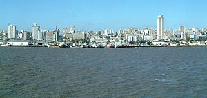 View of the Maputo skyline
