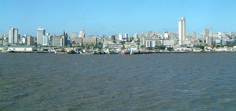 Maputo, the capital of Mozambique is the largest city in the country and is separate from the Maputo Province. On the image the Port of Maputo is featured, the second largest in East Africa