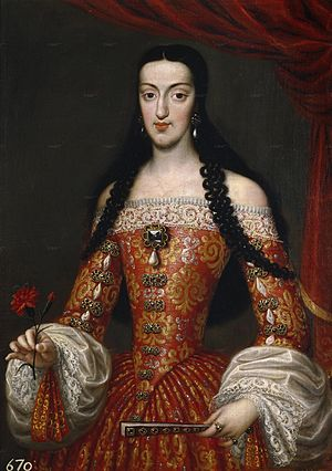 José García Hidalgo - Marie Louise of Orléans, 1679 painting now in the Museo del Prado
