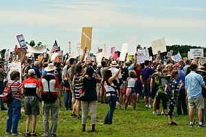 March for Truth - Rally participants in Washington, D.C.