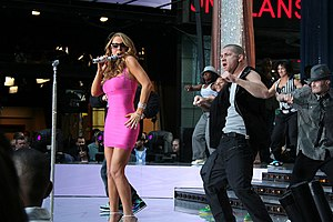 "Touch My Body - Carey and her dancers performing ""Touch My Body"" on Good Morning America on April 25, 2008"