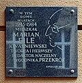 Marian Eile commemorative plaque, 5 Mala street,Krakow,Poland.jpg