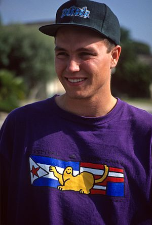 Dammit - The song was composed by bassist Mark Hoppus, seen here in 1994.