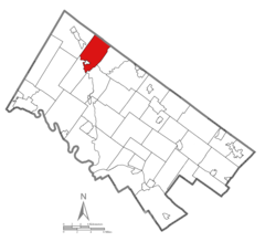 Location of Marlborough Township in Montgomery County