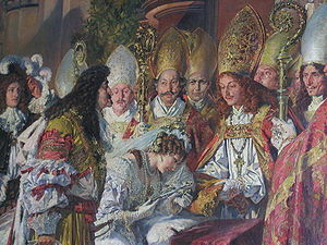 Eleonor Magdalene of Neuburg - Painting depicting the 1676 marriage of Eleonor and Leopold.