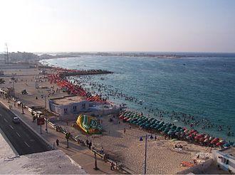 Mersa Matruh - Image: Marsa Matruh Umbrellas on the Waterfront