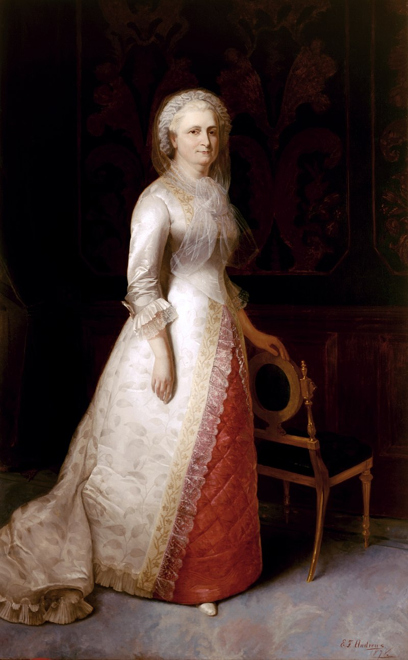 Portrait painting of Martha Washington