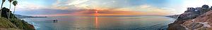 La Jolla Shores - Image: Martin Johnson House, SIO, La Jolla Shores at sunset pano