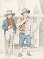 Martinus Rørbye - To italienere. Miele Mercure og Domenico Caparoni fra Sermoneta - 1834.png