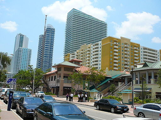 Mary Brickell Village looking south