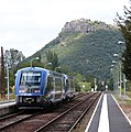 Massiac Station, south of Claremont Ferrand with a Sunday IC service from Beziers to Claremont. - 15098669896.jpg