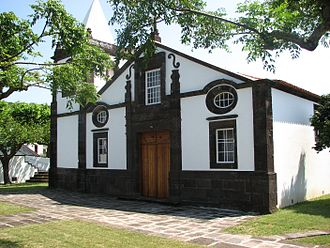 São Jorge Island - One of the earliest churches on the island of São Jorge, the Matriz Church of Nossa Senhora do Rosário, in Topo