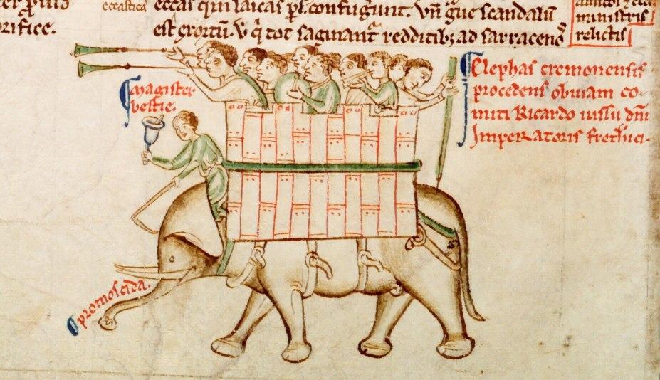 Matthew Paris Elephant from Parker MS 16 fol 151v