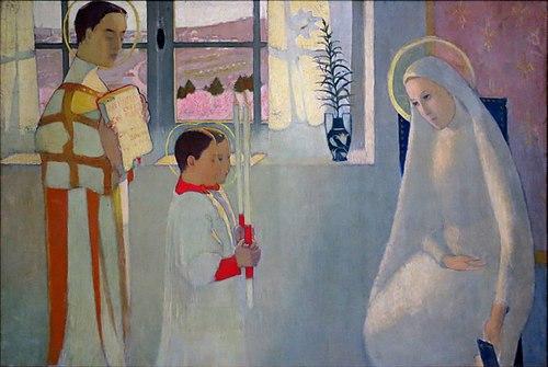 Maurice Denis,Le Mystère catholique (1889), huile sur toile,Prieuré de Saint-Germain-en-Laye.