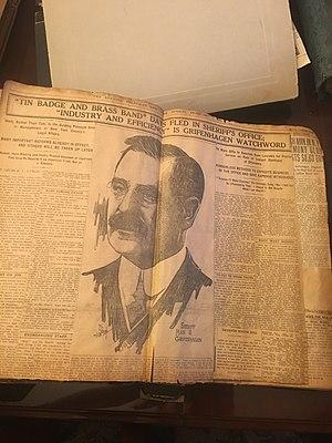 Max Samuel Grifenhagen - Newspaper from February 1st, 1914 concerning Max.