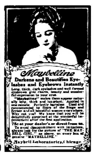 Maybelline - 1920 ad for Maybelline.