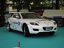 Prototipo di veicolo alimentato ad idrogeno.