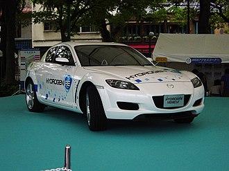 Hydrogen internal combustion engine vehicle - RX-8 hydrogen rotary