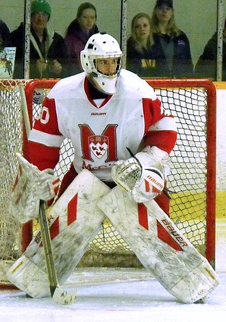 McGill Redmen and Martlets - McGill goalie during 2014 Queen's Cup.