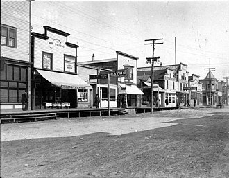 Valdez, Alaska - McKinley Avenue in Valdez, June 1908