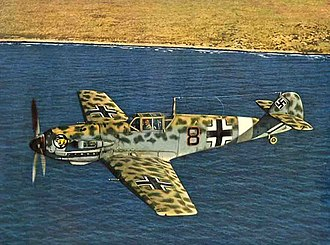 Messerschmitt Bf 109 - Bf 109E-4/Trop of JG 27 off the North African coast, mid-1941
