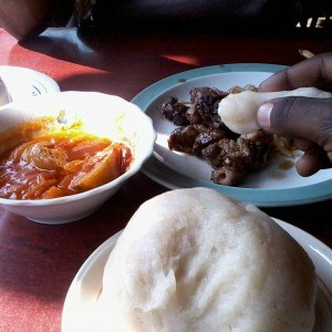 Cuisine of Burundi - Foods at a Burundian meal