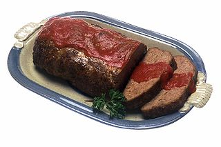 Meatloaf Dish of ground meat formed into a loaf shape