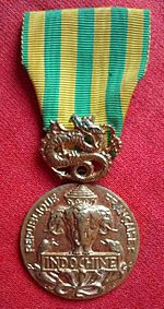 Image illustrative de l'article Médaille commémorative de la campagne d'Indochine