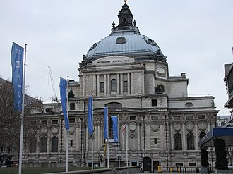 Methodist Central Hall, Westminster - Methodist Central Hall in 2010