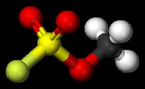 Methyl fluorosulfonate - Image: Methyl fluorosulfonate 3D balls