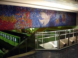 Bobigny – Pablo Picasso (Paris Métro) - Image: Metro Paris Ligne 5 station Bobigny Pablo Picasso 03