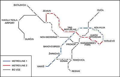 mapa b92 beograd ulice Belgrade Metro   Wikipedia mapa b92 beograd ulice