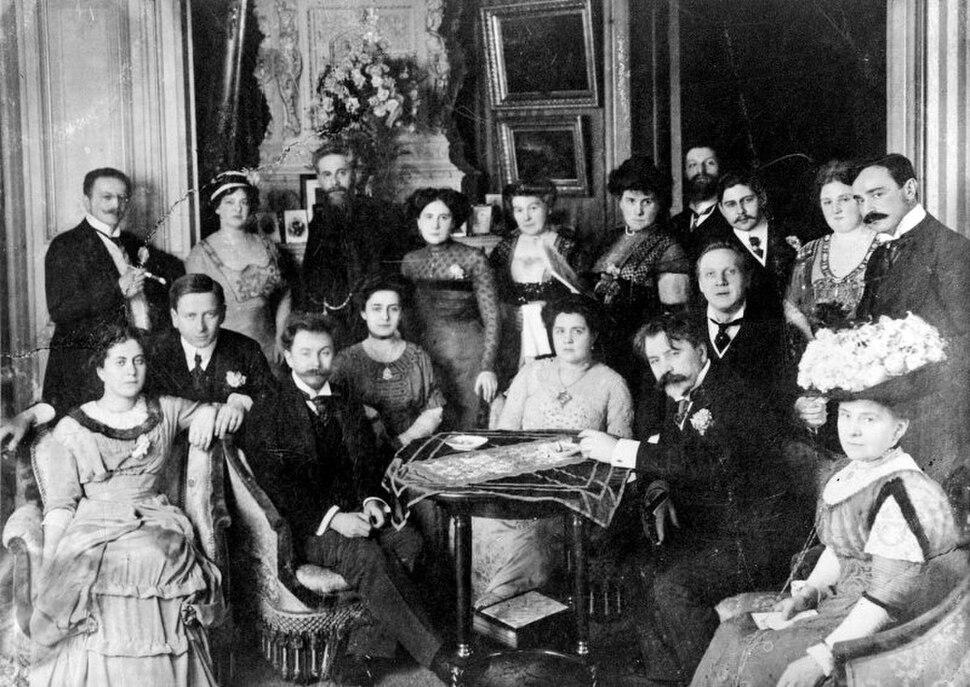 Metzl, Tatiana & Alexandr Scriabine, Nikisch, Shalapine, Kusevitsky, Berlin 14mar1910
