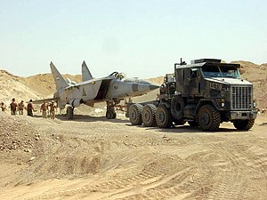 Iraqi Air Force - An Iraqi MiG-25 Foxbat found buried under the sand west of Baghdad.