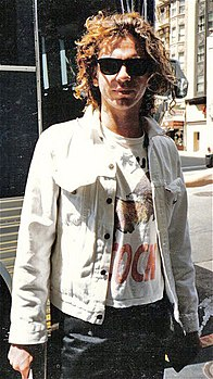 Michael Hutchence in un'immagine del 1986