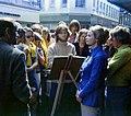 Michael E. Arth drawing pastel portrait in Copenhagen September 1973.jpg