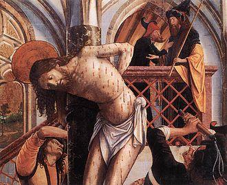 Österreichische Galerie Belvedere - Image: Michael Pacher Flagellation WGA16816