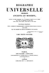Michaud - Biographie universelle ancienne et moderne - 1843 - Tome 38.djvu