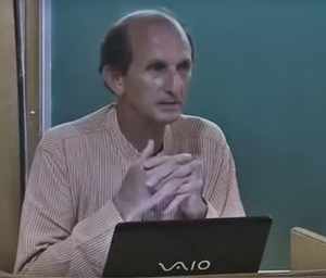 Michel Danino - Michel Danino taking a lecture at IIT Kanpur
