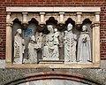 Milano, antica porta ticinese, 03 madonna col bambino e santi protettori di milano di giovanni di balduccio e aiuti (in copia).jpg