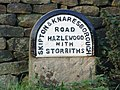 Milestone at the side of the A59 - geograph.org.uk - 71352.jpg