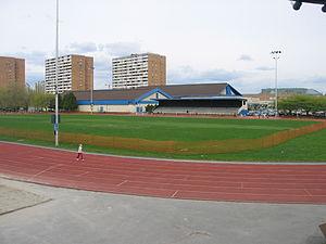 Minoru Park - Minoru Park's running track, built on its former horse racecourse.
