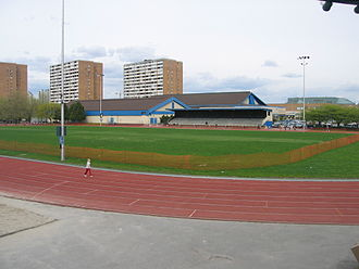 Minoru Park - Minoru Park's running track, built on its former horse racecourse.