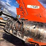 Missil damaged aircraft but landed safely ^ ^ Chino CA (8204577562).jpg