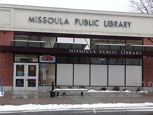 Missoula Public Library - Main Branch front entrance (2012)