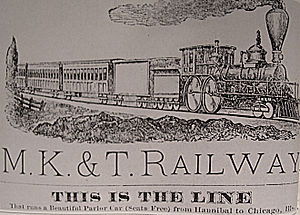Missouri–Kansas–Texas Railroad - An 1881 advertisement for the line