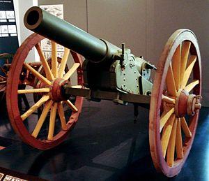 42-line field gun M1877 - 42-line field gun M1877 in Hämeenlinna Artillery Museum.